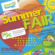 1st Annual Backpacks for Kids Summer Fair